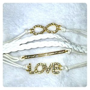 Jewelry - 💕2 for $10💕 White & Gold Bracelet